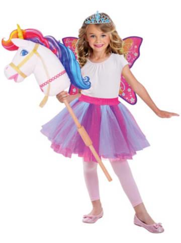 Amscan Kostüm Barbie Hobby Regenbogen Einhorn