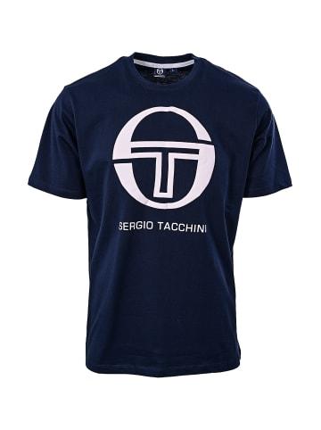 Sergio Tacchini Rundhalsshirt Iberis T-Shirt in navy/white