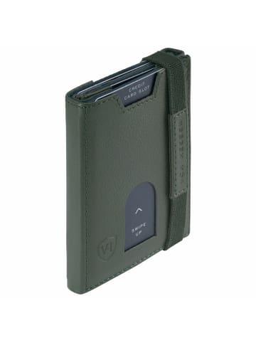 VON HEESEN Slim Wallet in grün (genarbt)