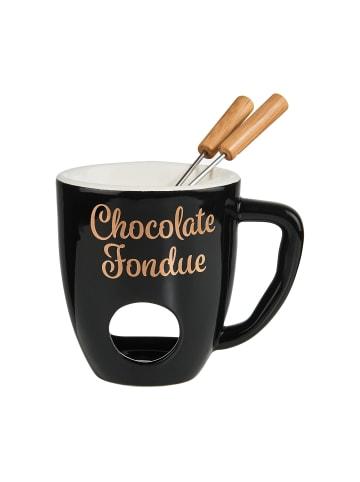 Butlers Tasse mit 2 Gabeln CHOCOLATE FONDUE in Schwarz