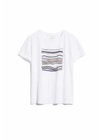 Armedangels Motivdruck Shirt in weiß