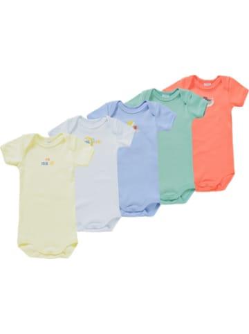PETIT BATEAU Baby Kurzarmwickelbody 5er Pack, Organic Cotton