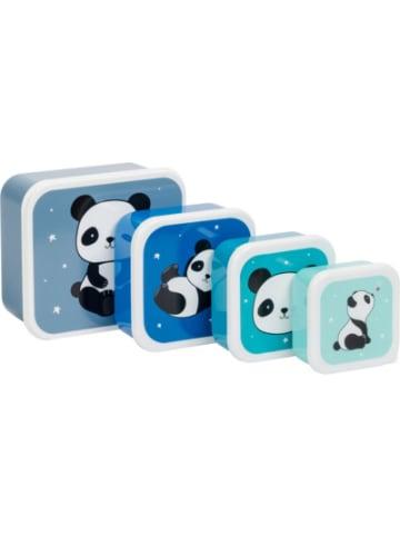 A little lovely company Brotdosen-Set Lunch & Snack Panda, 4-tlg.
