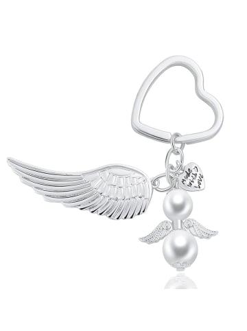 Himmelsflüsterer  Engel-Herz-Schlüsselanhänger