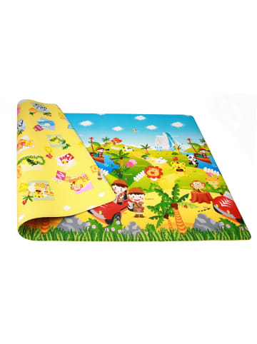 "Dwinguler Spielmatte ""Safari"" in Bunt - (L) 230 x (B) 140 cm x (H) 15 mm"