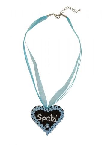 Edelnice Halskette Spatzl in blau