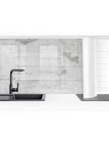 Bilderwelten  Küchenrückwand - Große Betonplatten in Grau