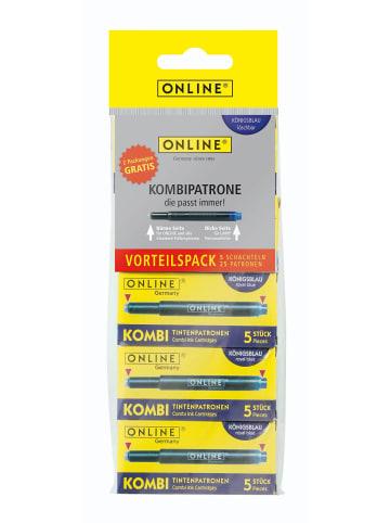 Online ONLINE Füller-Patrone Kombipatrone 5er Vorteilspack - passend zu allen Füllern