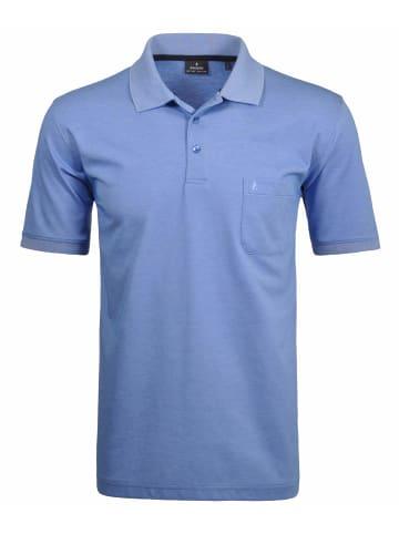 Ragman Poloshirt kurzarm in blau