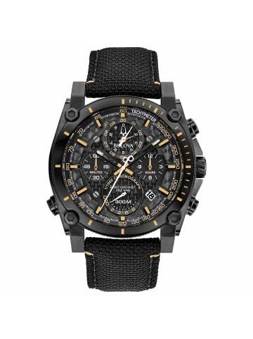 Bulova Chronograph Uhr 'Precisionist Champlain' in Schwarz/Blau