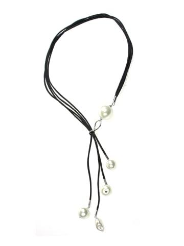 Perlas Orquidea  Perlenkette Briitte Necklace in weiß