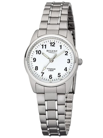 Regent Damen-Armbanduhr Titan Ø 26 mm Weiß / Silber