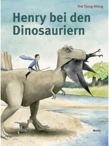 Moritz Henry bei den Dinosauriern