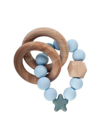 Nibbling Nibbling Stellar Beiß- und Rasselring Greifling Soft Blue