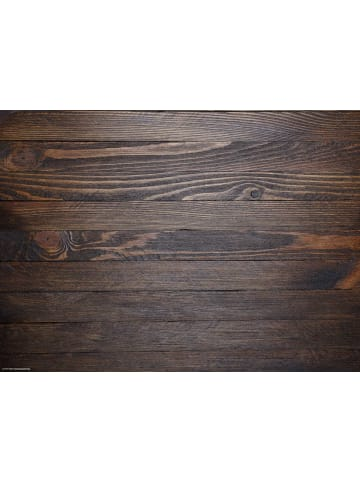 Tischsetmacher.de Tischset I Platzset abwaschbar - Holzoptik dunkelbraun - 4 Stück - 44 x 32 cm