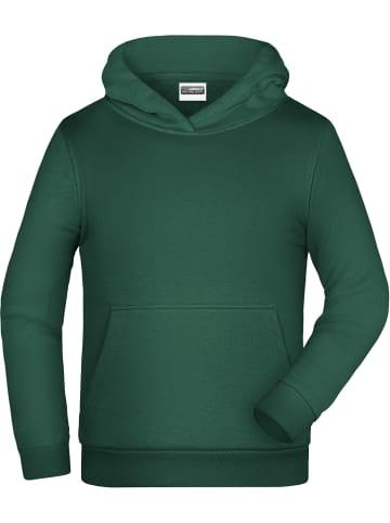 James & Nicholson Kapuzensweatshirt in Dark Green