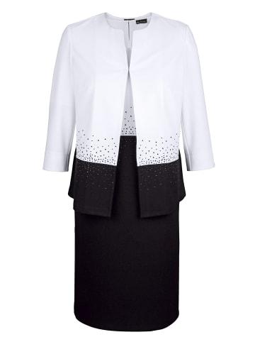 M. collection Set: Blazer und Kleid in Schwarz,Weiß