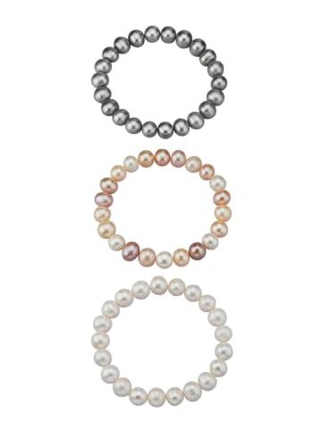 Diemer Perle 3tlg. Armband in Multicolor