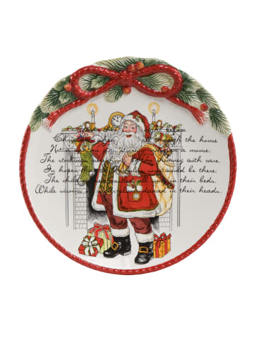 """Fitz&Floyd Teller """" Weihnachtsteller """" in Bunt"""