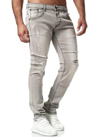 WANGUE Denim Jeans Hose Look in Grau