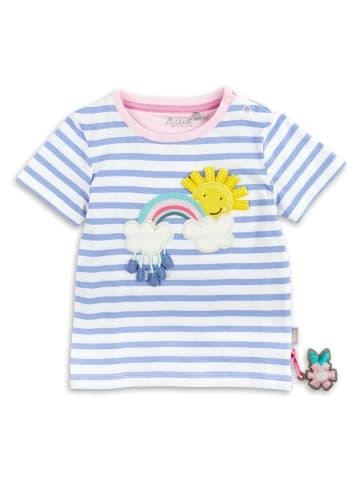 """Sigikid T-Shirt """" Regenbogen"""" in Weiß/Hellblau geringelt"""