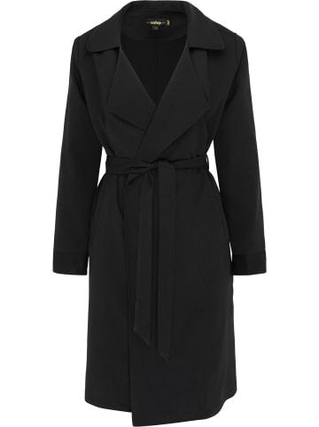 Usha BLACK LABEL Leichter Mantel in Schwarz