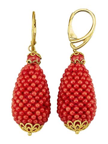 Diemer Farbstein Ohrringe in Rot
