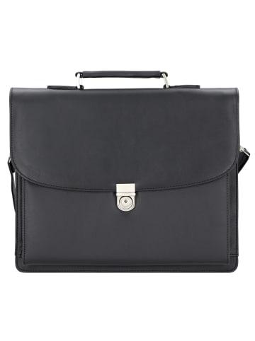 Alassio Forte Aktentasche 40 cm Laptopfach in schwarz