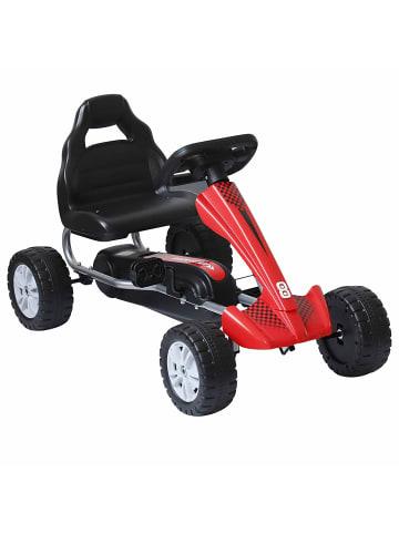 HOMCOM Kinderfahrzeug in Rot/Schwarz