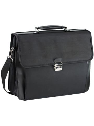 D&N Basic Aktentasche 41 cm Laptopfach in schwarz