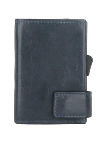 SecWal SecWal 2 Kreditkartenetui Geldbörse RFID Leder 9 cm in blau