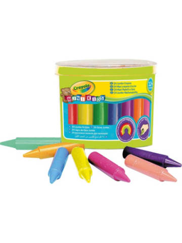 Crayola Jumbo Wachsmalstifte MINI KIDS, 24 Farben