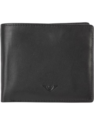 VLD VOi Leather Design Soft Nick Geldbörse Leder 11 cm in schwarz