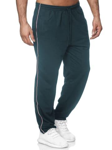 Humy Jogginghose Baggy Sweat Pants Trainingshose Fitness in Blau