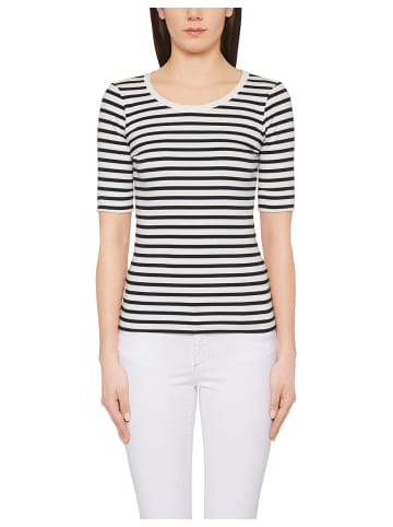 MARC CAIN Rundhals T-Shirt in dunkel-blau
