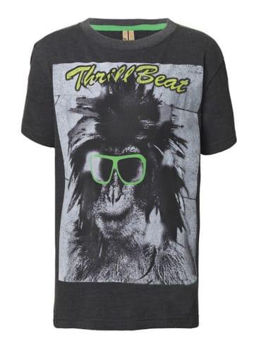 Streetkids Jungen T-Shirt Monkey Glass in castlerock gray