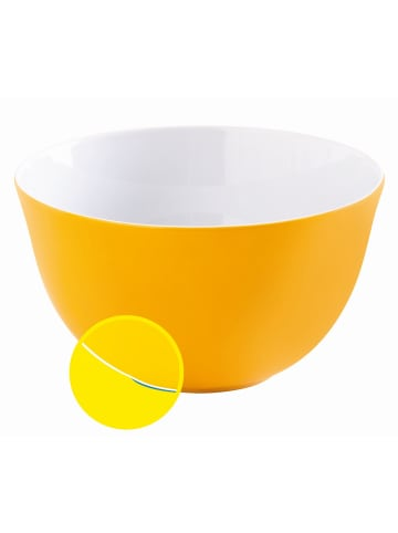 """KAHLA Magic Grip Porzellan Schüssel 19 cm """"Update"""" orange-gelb"""
