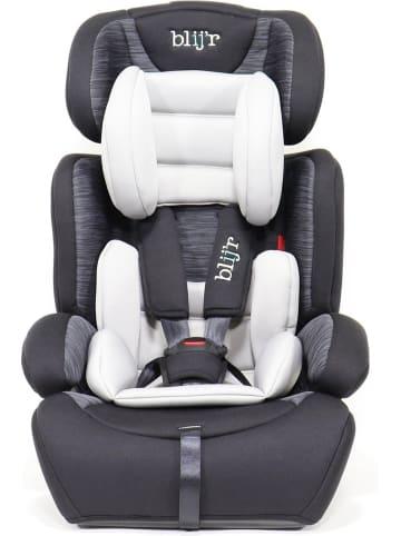Blij'r Ivo - Autositz - Klasse 1,2,3 - Geeignet für 9-36 kg - Mit extra Polsterung und 5-Punkt-Gurt – in Grau/Schwarz