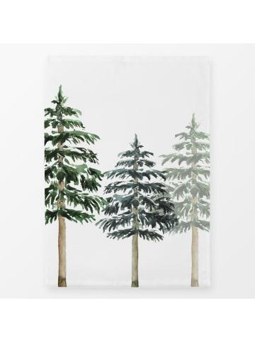 """Textilwerk Geschirrtücher """"Tannenbäume im Schnee"""" bunt im 2er Set"""