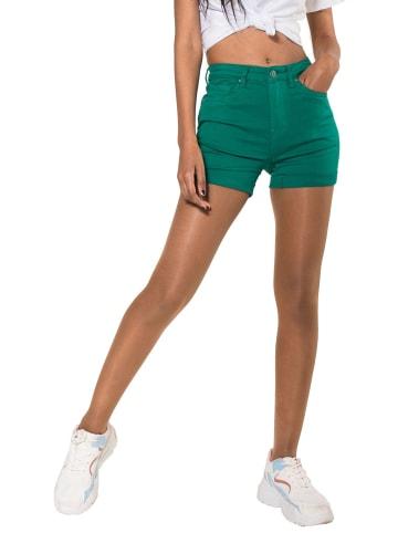 Simply Chic Jeans Shorts Hot Pants Kurze Hose Chino Bermuda in Grün