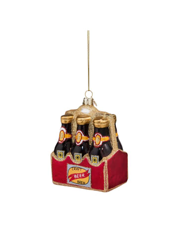 """Butlers Anhänger """"6-Pack Bier"""" HANG ON in rot"""