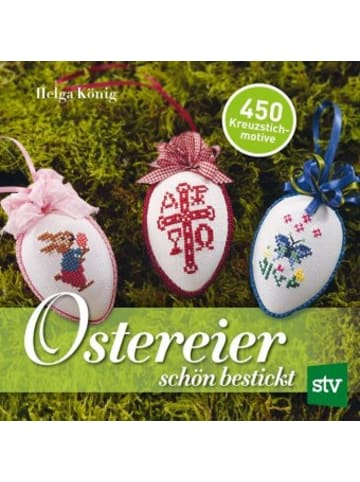 Stocker Ostereier schön bestickt