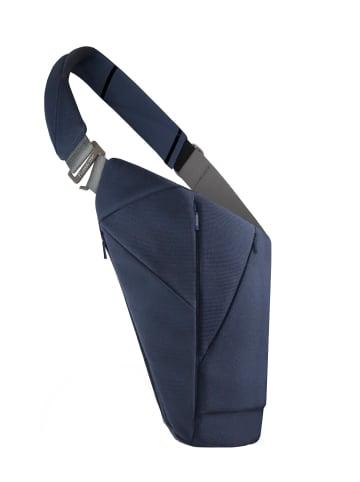 Baggizmo Bauchtasche Baggizmo Bag smarte Umhängetasche in blau mit c.r.