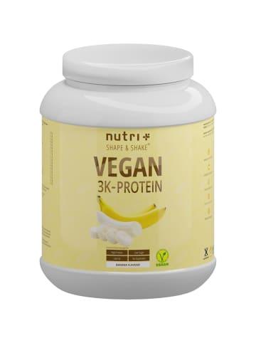 Nutri+ Pulver Vegan 3K Proteinpulver (1000g) in Banane