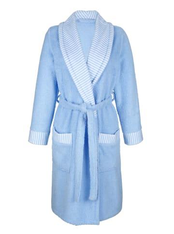 Mona Bademantel in Weiß,Blau