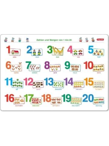 Spielend Lernen Fragenbär-Mini-Lernposter: Zahlen und Mengen von 1 bis 20