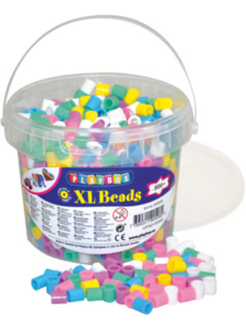 Playbox XL-Bügelperlen im Eimer, Pastellfarben, 950 Stück