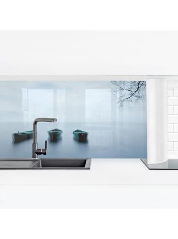 Bilderwelten  Küchenrückwand - Ruhe auf dem See in Blau