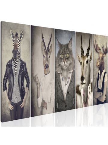 Artgeist Wandbild Animal Masks I in Beige,Braun,Grau,Weiß