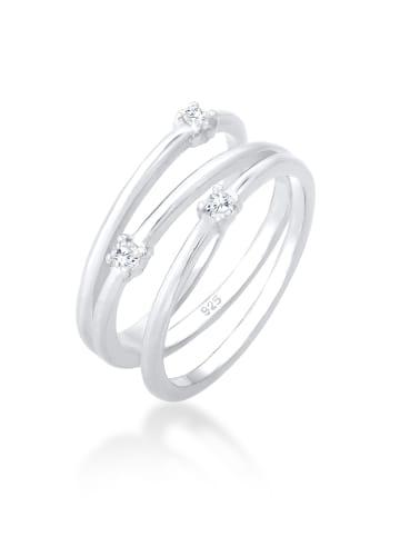Elli Ring 925 Sterling Silber Spirale, Wickelring in Silber